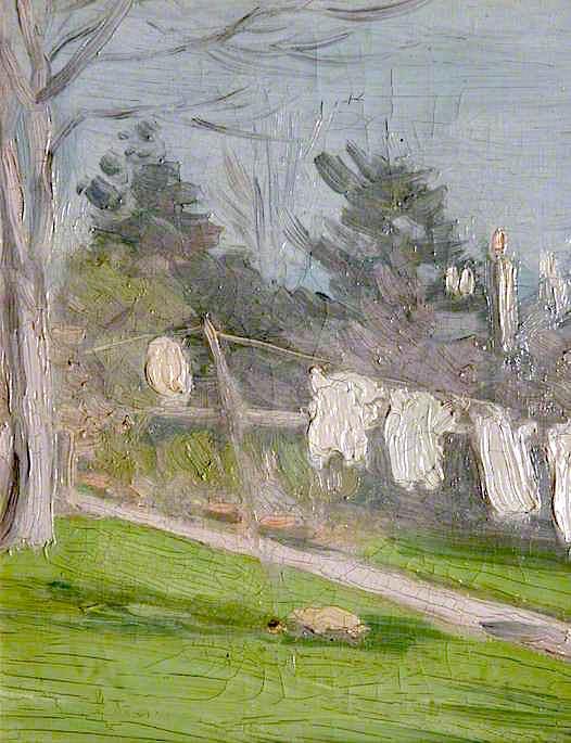Κήπος με ρούχα απλωμένα σε μια γραμμή - John Duncan Fergusson 1900