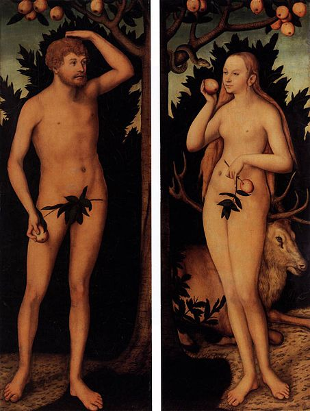 Αδάμ και Εύα -Lucas Cranach the Younger -1537