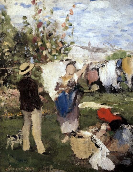 Στέγνωμα ρούχων - Pal Szinyei-Merse - 1869