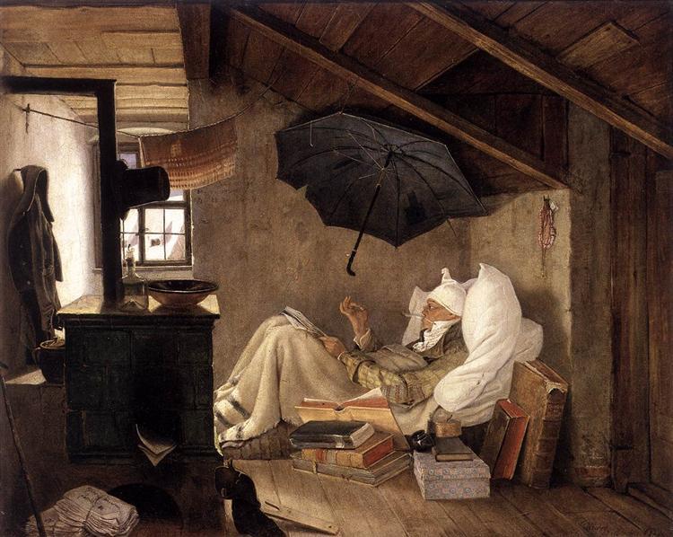 Carl Spitzweg - ο φτωχός ποιητής-1837