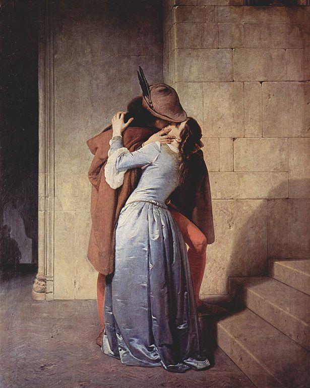 """""""Το φιλί"""" (1859, Πινακοθήκη Μπρέρα, Μιλάνο)"""