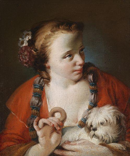 Νεαρή γυναίκα με το σκυλί της
