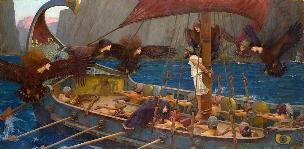 Ο Οδυσσέας και οι Σειρήνες.