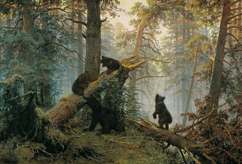 Πρωινό στο πευκοδάσος 1886