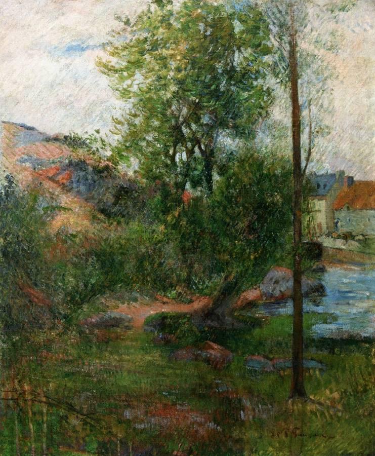 Ιτιά στην Aven - Paul Gauguin - 1888