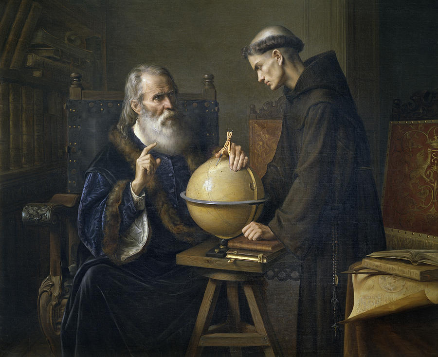 OΓαλιλαίος Γαλιλέι δείχνει τις νέες αστρονομικές θεωρίες του στο Πανεπιστήμιο της Πάδοβας Felix Parra