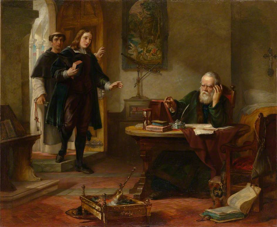 O Milton επισκέπτεται τον Γαλιλαίο σαν αιχμάλωτο της Ιεράς Εξέτασης - Solomon Alexander Hart 1847