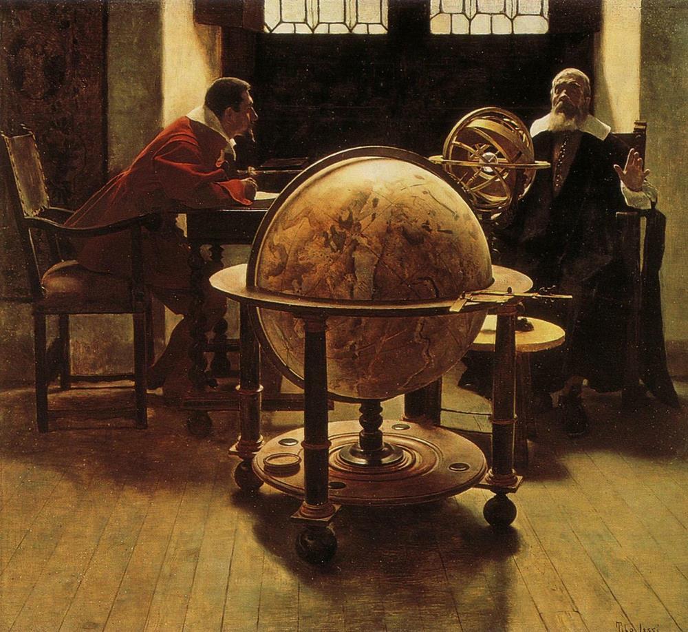 Galileo και Viviani -Tito-Giovanni Lessi - 1892