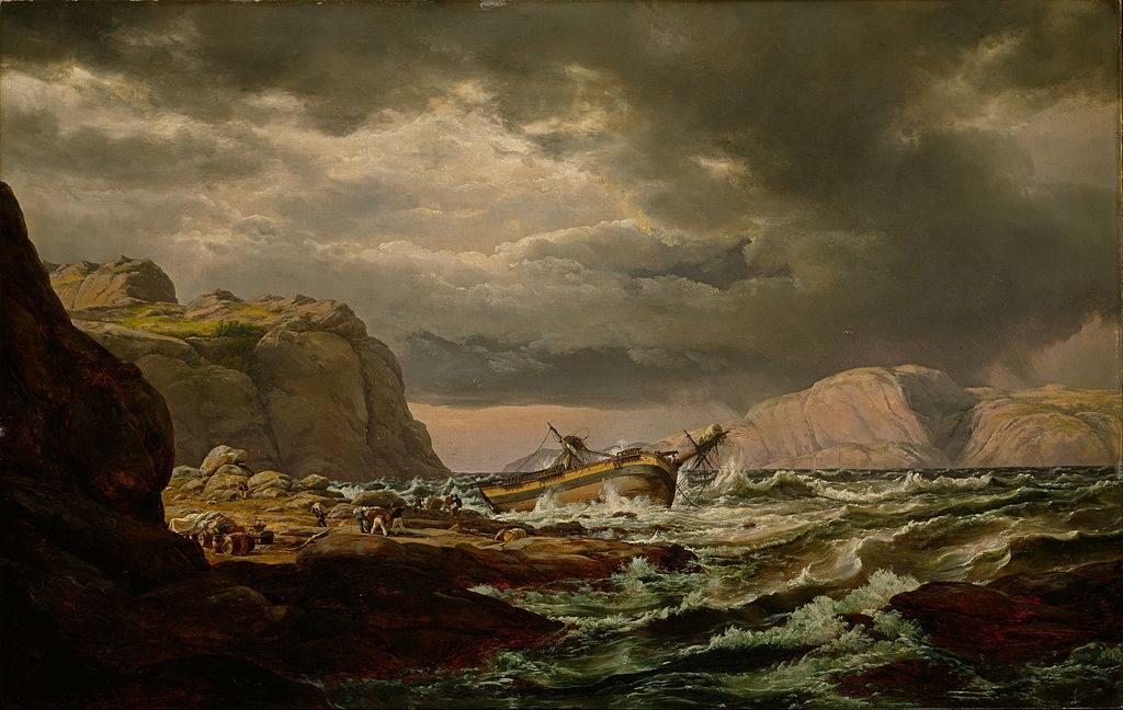 Ναυάγιο σε ακτή της Νορβηγίας , 1832