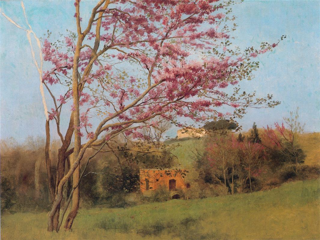 Τοπίο με ανθισμένη αμυγδαλιά (μελέτη) - John William Godward 1912