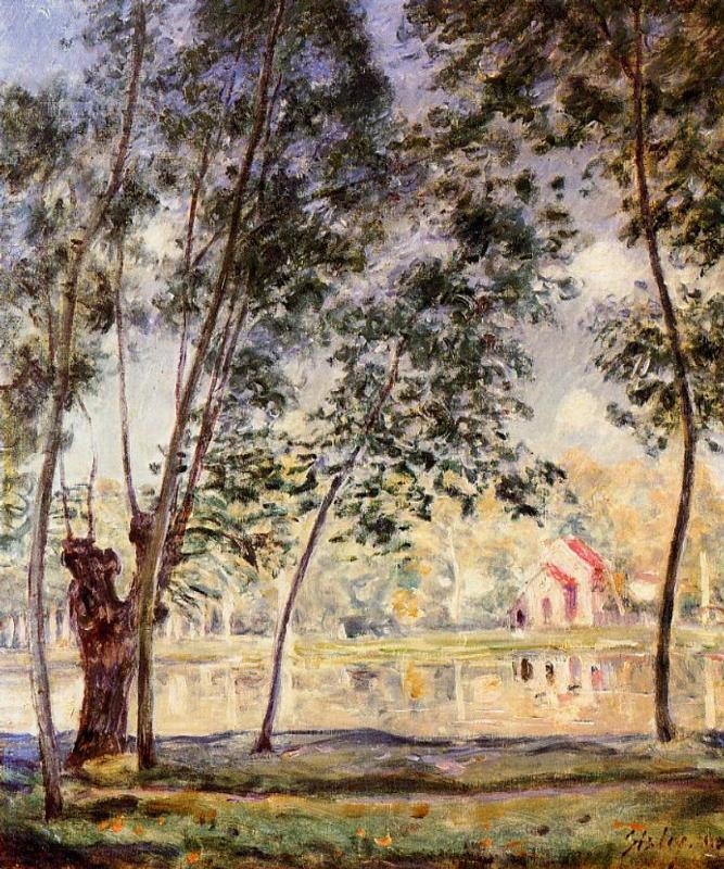 Ιτιές στο ηλιόλουστο απόγευμα στο Loing - Alfred Sisley 1890