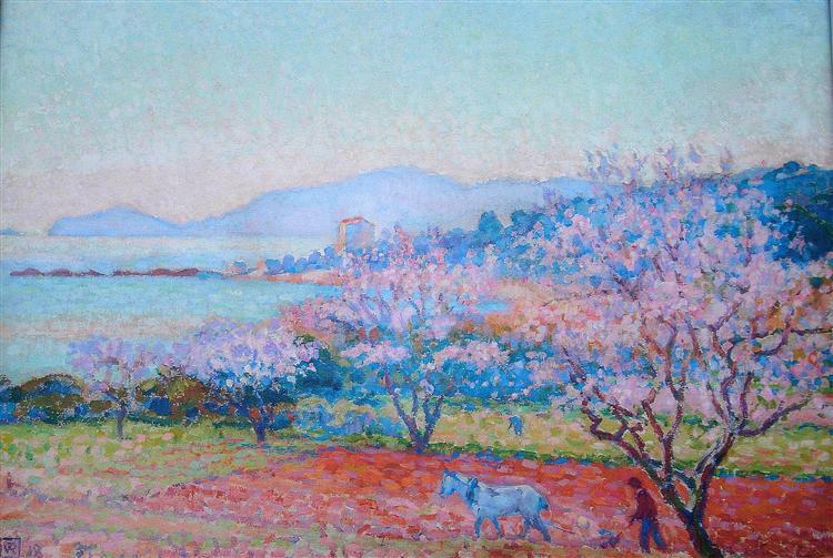 τα άνθη της αμυγδαλιάς -Theo van Rysselberghe 1918