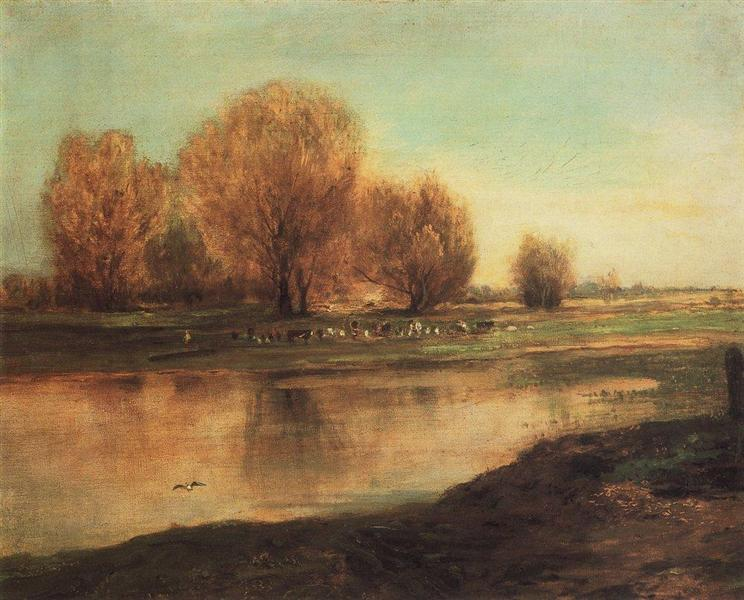 Ιτιές στη λίμνη - Aleksey Savrasov1872
