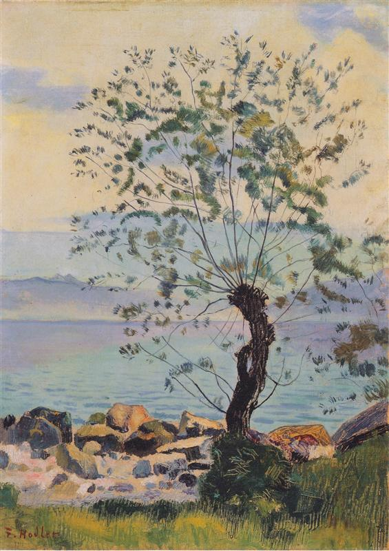 Ιτιά στη λίμνη -Ferdinand Hodler 1890
