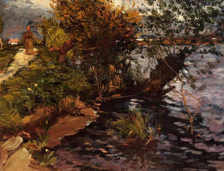 ιτιές στην Yerres (περιοχή της Γαλλίας) Gustave Caillebotte 1872