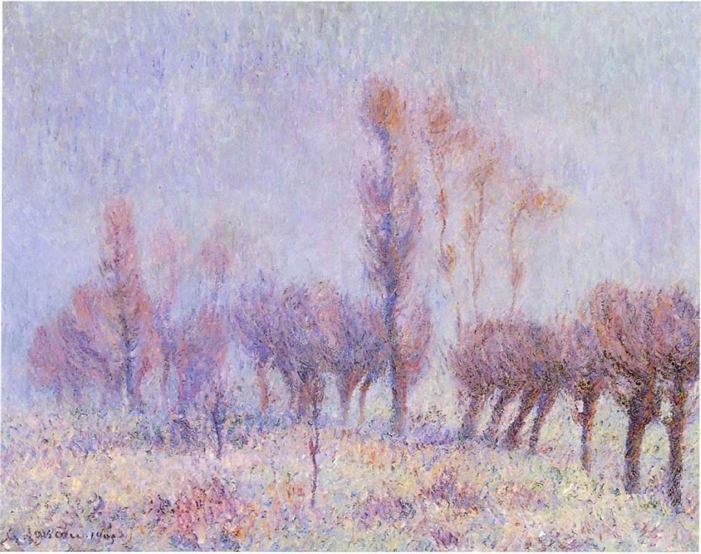 Ιτιές στην ομίχλη - Gustave Loiseau 1915