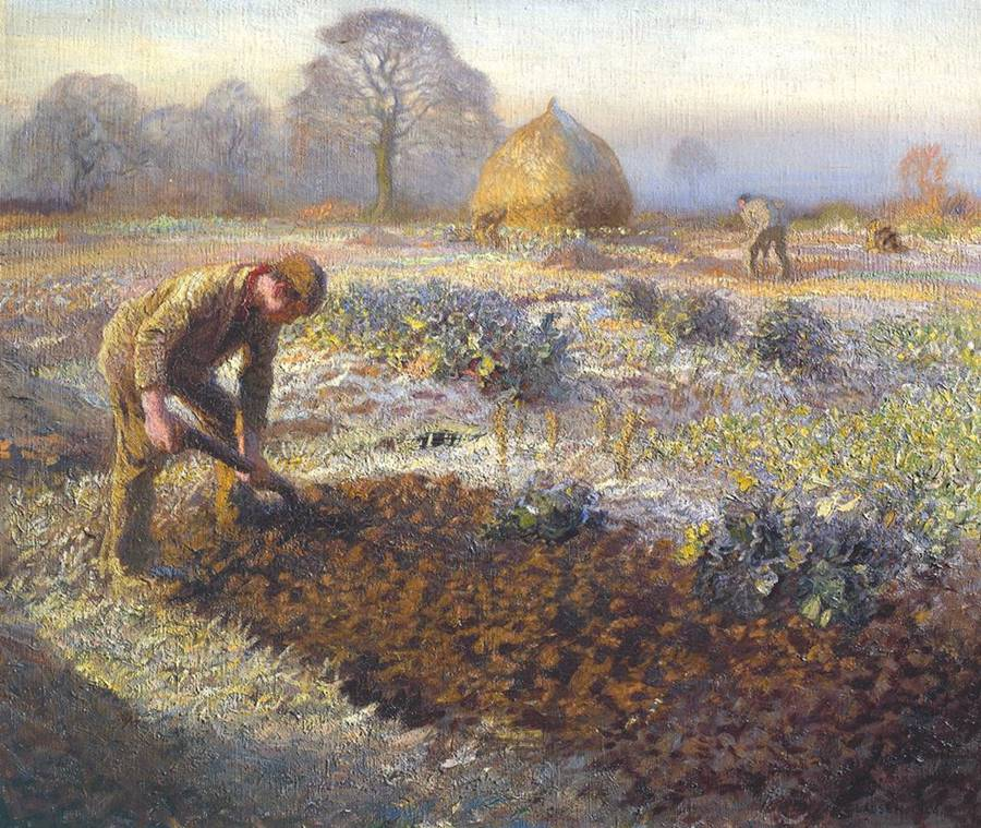 Ένα παγωμένο πρωινό του Μάρτη - Sir George Clausen 1904