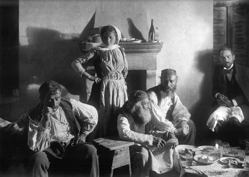 Οικογένεια στο Ζεμενό Κορινθίας, 1903- Φρεντ Μπουασονά