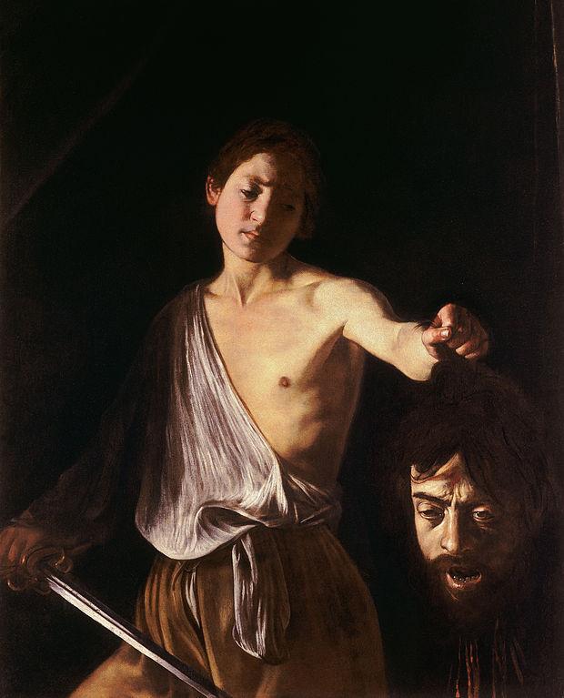 Δαβίδ με το κεφάλι του Γολιάθ - Καραβάτζιο --1607