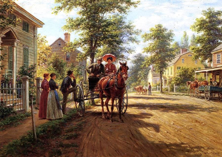Ένα κυριακάτικο απόγευμα - Edward Lamson Henry - 1902