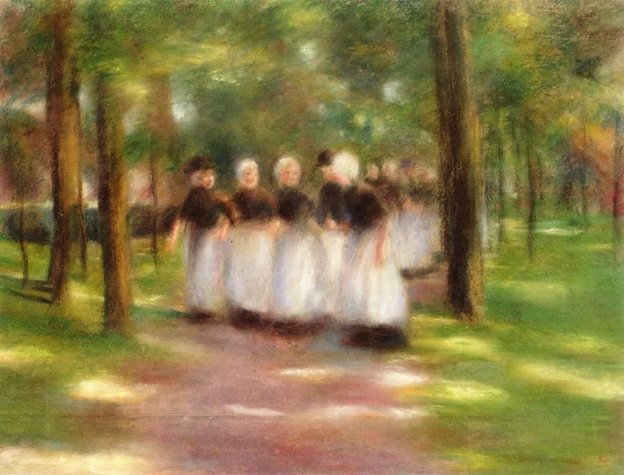 Το απόγευμα της Κυριακής στο Laren Alley - Max Liebermann - 1897