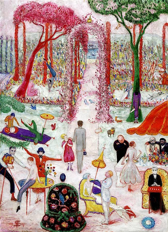 απόγευμα Κυριακής στην εξοχή- Florine Stettheimer - 1917