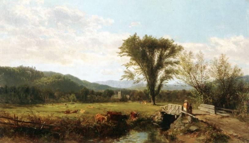 απόγευμα της Κυριακής στο Berkshire County, Mass. - James McDougal Hart - 1857