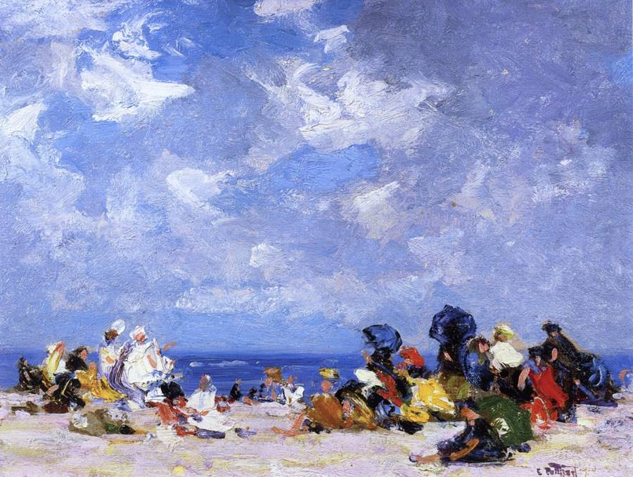 Κυριακή απόγευμα στην παραλία - Edward Potthast
