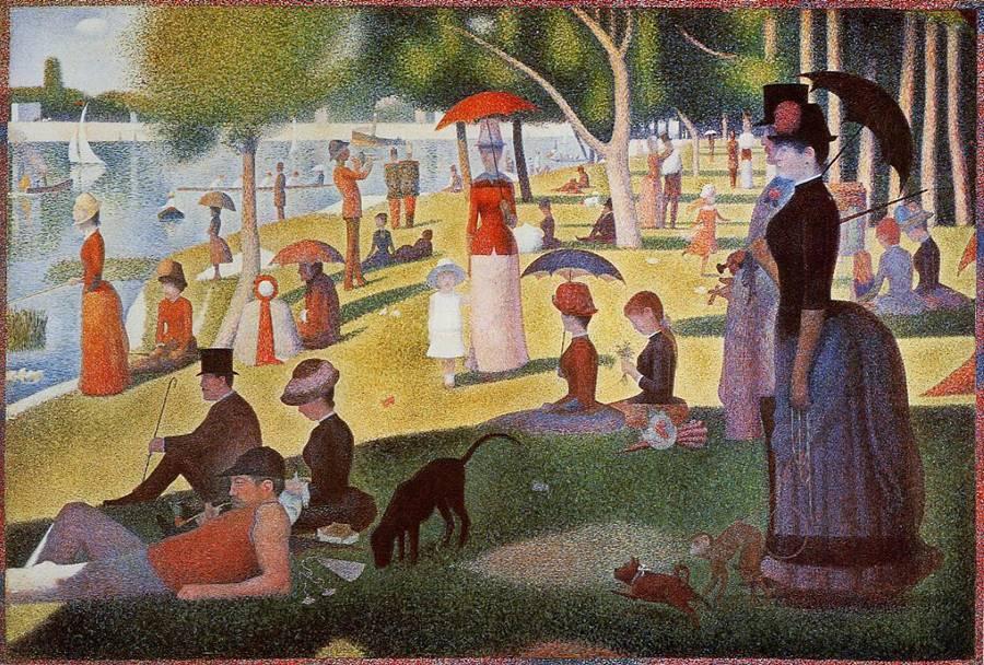 Την Κυριακή το απόγευμα στο νησί της La Grande Jatte -Georges Seurat 1884