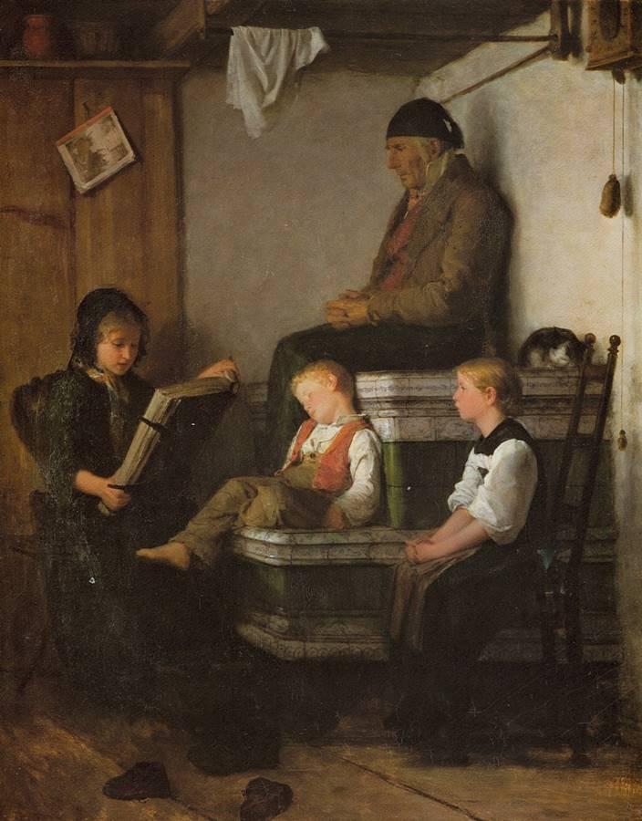 Απόγευμα Κυριακής - Albert Anker - 1861