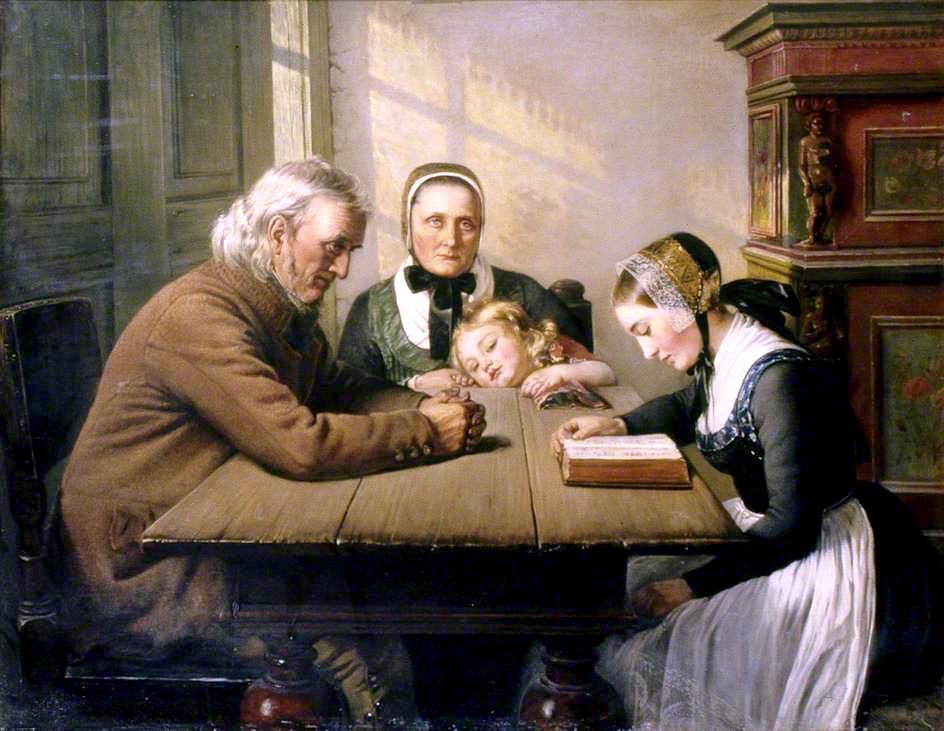 Κυριακή βράδυ - Elisabeth Jerichau-Baumann - 1858