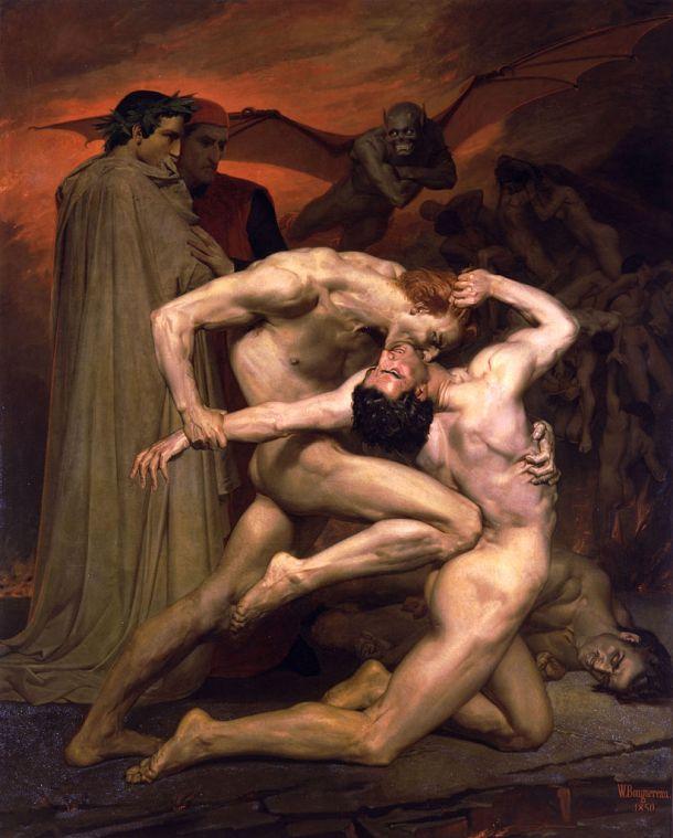 Δάντης και Βιργίλιος στην Κόλαση - Ουιλιάμ-Αντόλφ Μπουγκερώ, 1850