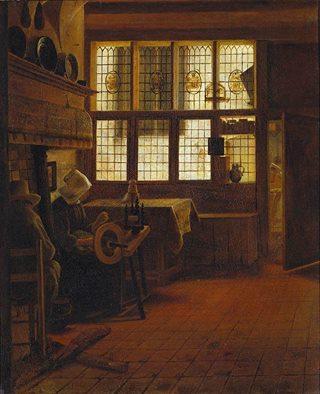 Γυναίκα γνέθει 1661