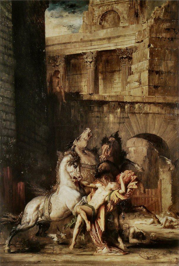 Ο Διομήδης κατασπαράζεται από τα άλογά του, του Gustave Moreau