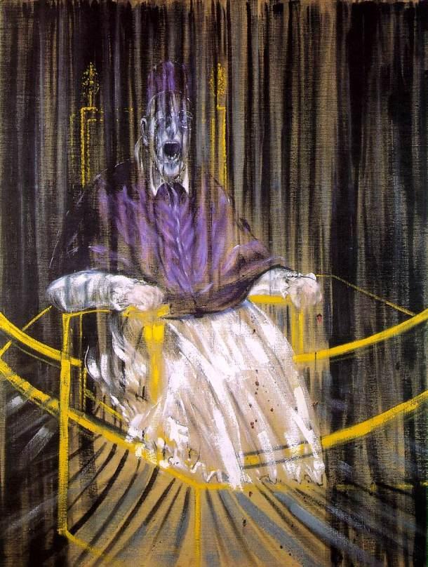 «Σπουδή βασισμένη στην προσωπογραφία του πάπα Ιννοκέντιου Ι' του Βελάσκεθ» - Francis Bacon (1953)