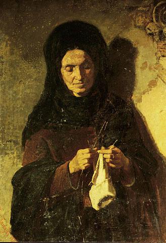 Γυναίκα πλέκει