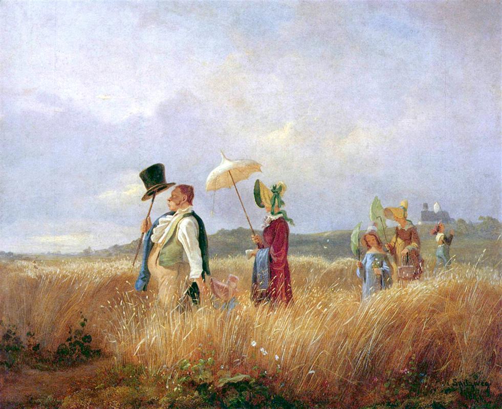 Κυριακάτικη βόλτα -Carl Spitzweg 1841