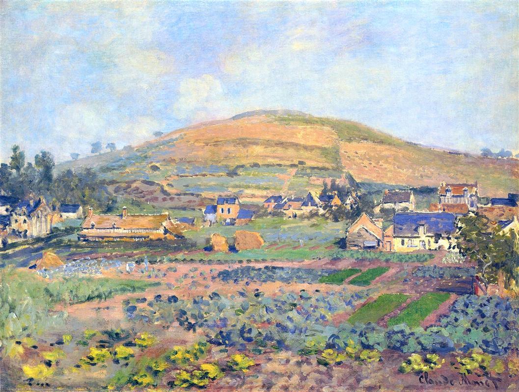 το βουνό Riboudet στη Ρουέν, κατά την άνοιξη - 1872