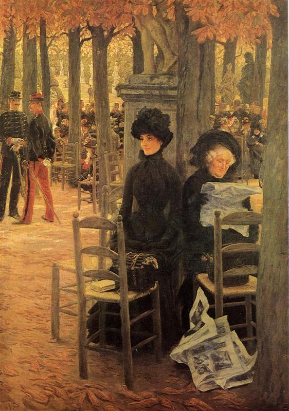 Κυριακή στους κήπους του Λουξεμβούργου -James Tissot 1883