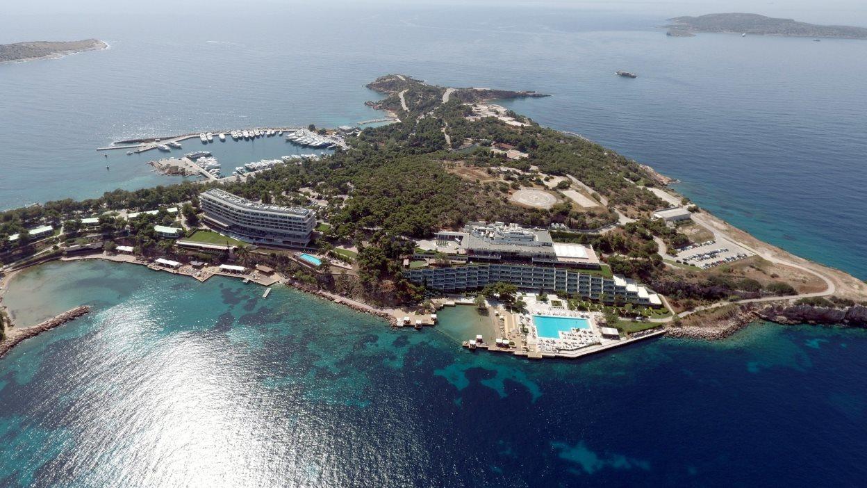 Αεροφωτογραφία από το συγκρότημα του Αστέρα Βουλιαγμένης. @Αντώνης Νικολόπουλος