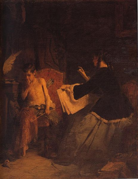 O έρωτας κι η ζωγράφος Νικόλαος Γύζης 1868