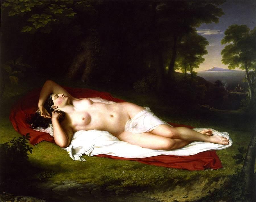 Η Αριάδνη κοιμάται στο νησί της Νάξου - John Vanderlyn - 1809-1814