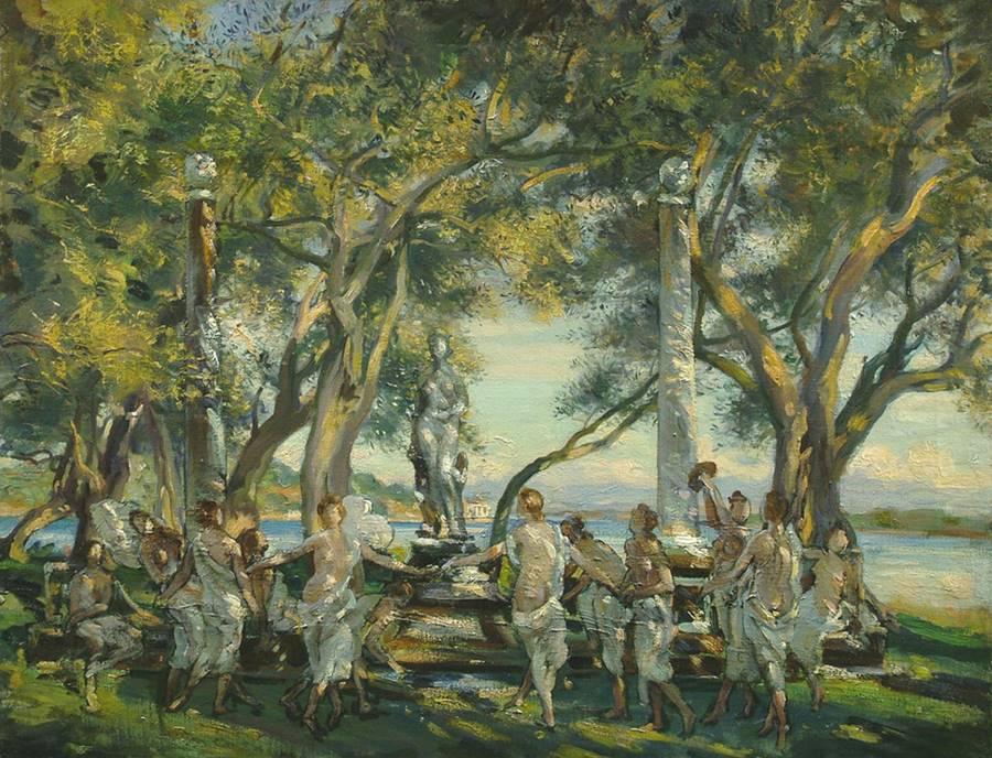 Χορός των Νυμφών, Κέρκυρα Wilfred Gabriel De Glehn - 1910