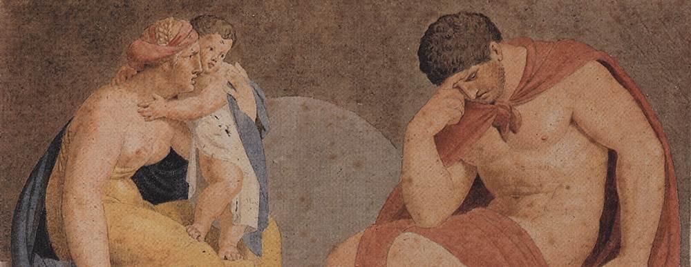 Sorrowful Ajax with Tecmessa and Eurysaces