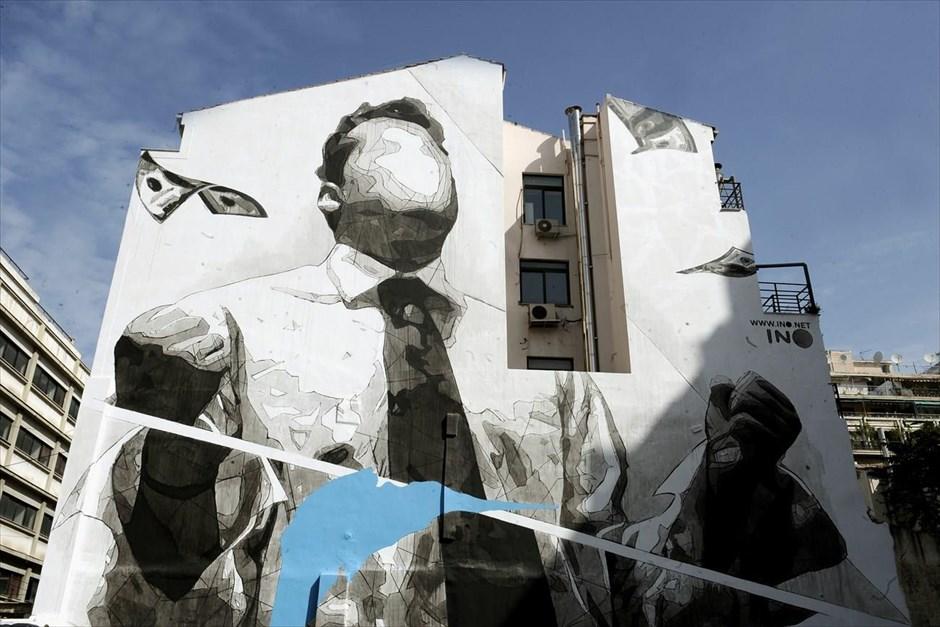 Γκράφιτι στο κέντρο της Αθήνας. @ΜΠΟΛΑΡΗ ΤΑΤΙΑΝΑ