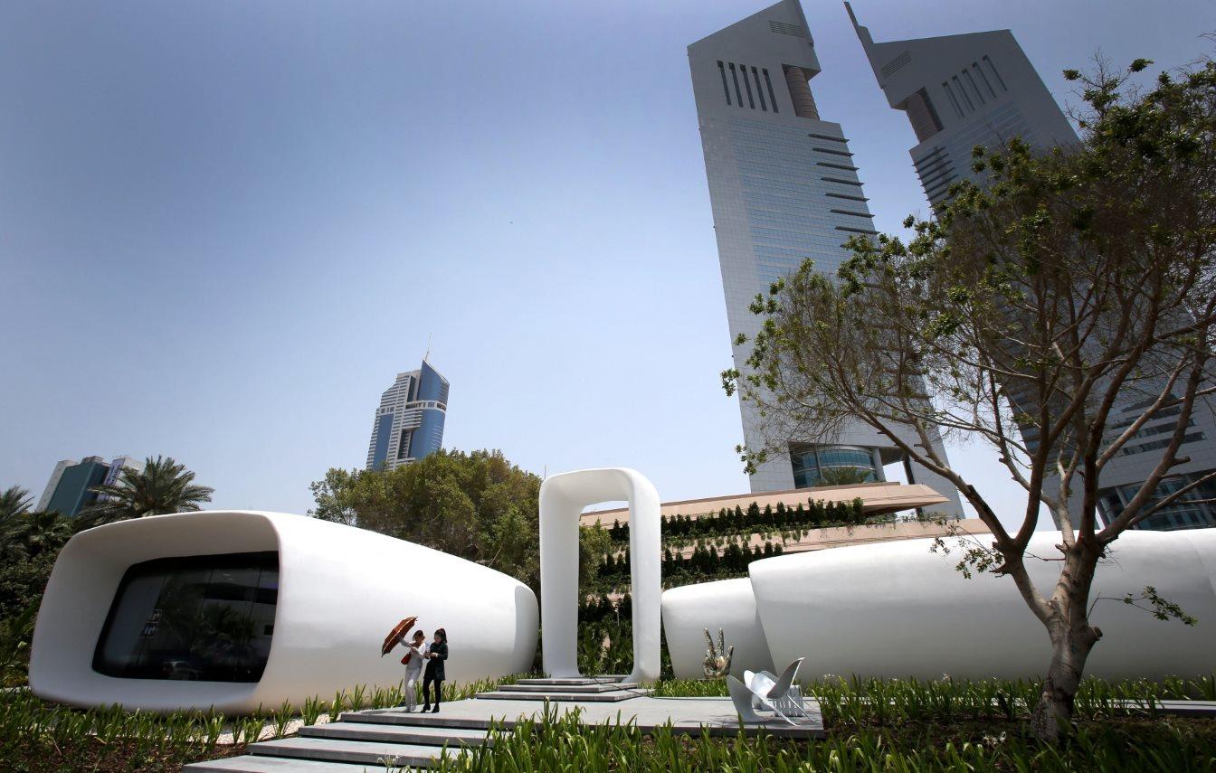 Το πρώτο στον κόσμο κτίριο που φτιάχτηκε από 3D εκτυπωτή, στο Ντουμπάι. @Kamran Jebreili/
