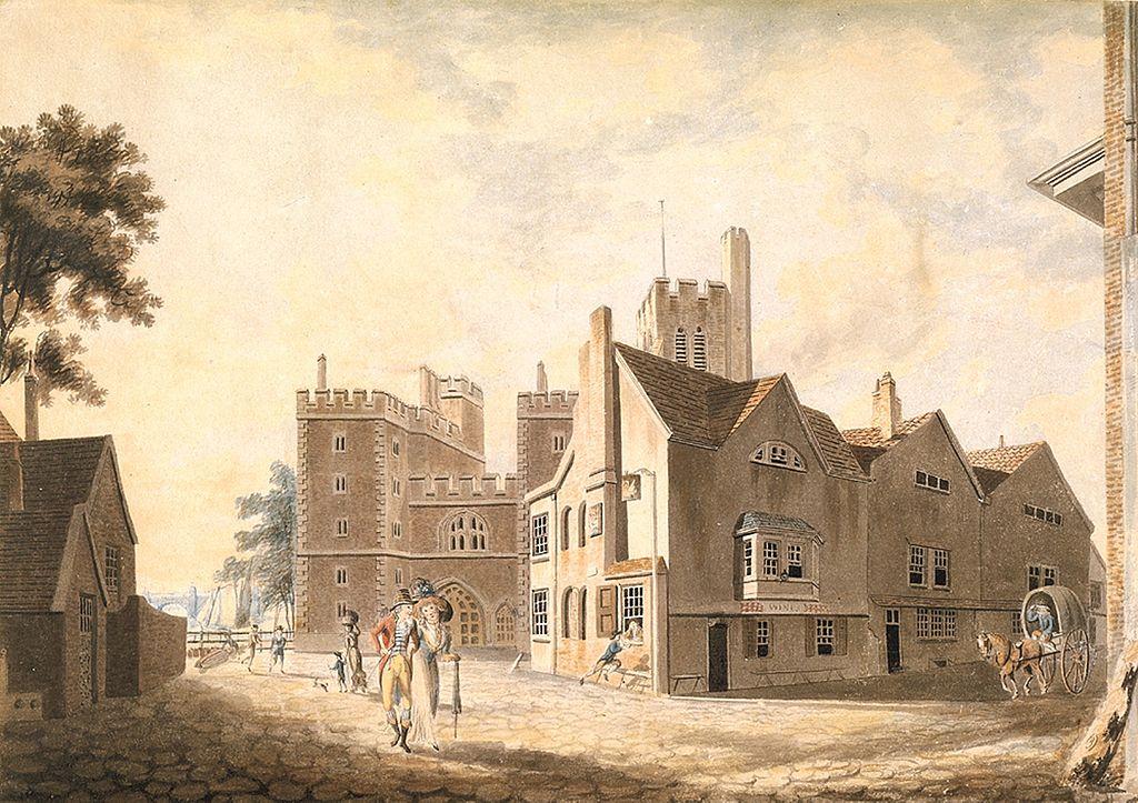 Μια άποψη του Αρχιεπισκοπικού μεγάρου Lambeth 1790