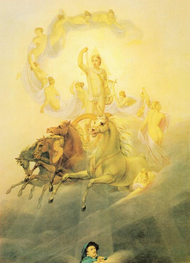 ο Απόλλων με τις Ώρες - Georg Friedrich Kersting - 1822