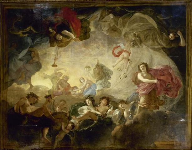 O Απόλλων και οι ώρες -Charles Le Brun - 1652-1655