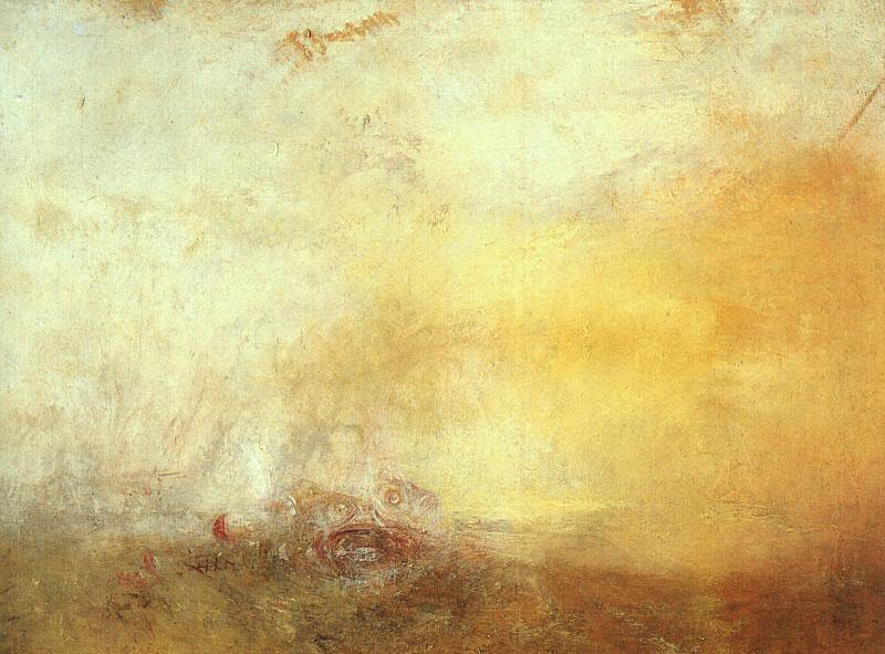 Ανατολή ηλίου με θαλάσσια τέρατα 1845